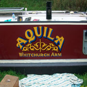 canal boat signage