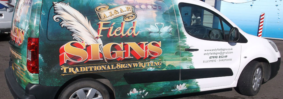 Field Signs Shropshire SignWriting traditional signwriters sign makers hand painted signs